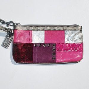 Coach patchwork small wristlet